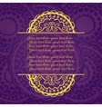Vintage Congratulations card with lace ornament vector image vector image