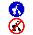 Walking frame traffic signs vector image