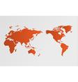 World map global warming vector image