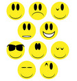 yellow face icons vector image