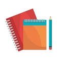 notebooks pencil isolated design vector image