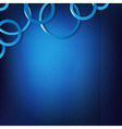 Dynamic Blue Background With Circles vector image
