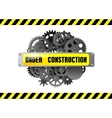 Under construction web page warning vector image
