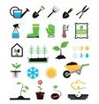 Gardening icons set vector image