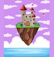 a castle above ocean vector image vector image