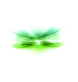 abstract green shape vector image vector image