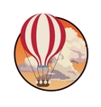 airballoon fly sky sunset clouds label design vector image vector image