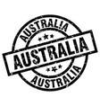australia black round grunge stamp vector image vector image