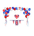 balloons flag and objects vector image vector image
