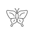 butterfly line outline icon or insect concept vector image