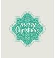 christmas vintage frame icon vector image vector image