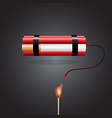 cigarette with dynamite vector image vector image