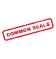 Common Seals Text Rubber Stamp vector image vector image
