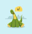 cute dinosaur in cartoon style children vector image vector image