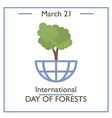 day forests vector image vector image