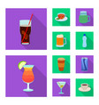 design of drink and bar logo set of drink vector image