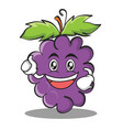 enthusiastic grape character cartoon collection vector image vector image