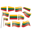flag of Lithuania vector image vector image