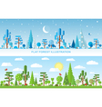 Flat forest vector image vector image
