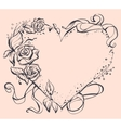 Frame in shape of heart for wedding invitation vector image vector image