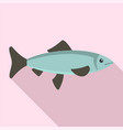 fresh fish from sea icon flat style vector image