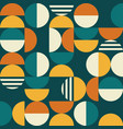 Geometric mid-century seamless pattern