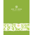 Green and golden garden silhouettes vertical torn vector image vector image