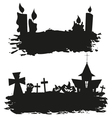 Halloween abstract set isolated on a white vector image vector image