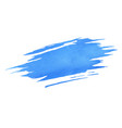 hand painted blue watercolor brush texture vector image