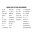 International Morse Code alphabet with numbers