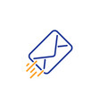 mail delivery line icon message correspondence vector image