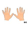 men s hands vector image vector image