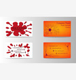 modern creative and trending business cards set vector image vector image