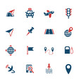 Navigation ransport map icon set