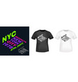 nyc new york city brooklyn t-shirt print for t vector image vector image