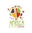 original african ethnic tribal logo vector image vector image