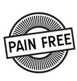 pain free rubber stamp vector image vector image