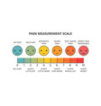 pain measurement scale vector image vector image