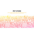 pet store concept vector image vector image