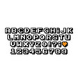 pixel font 8 and 16 bit vintage style vector image vector image