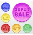 Promotional stickers Colorful collection vector image
