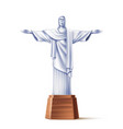 realistic christ redeemer statue rio vector image