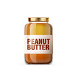 realistic glossy peanut butter jar for breakfast vector image