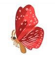 Red butterfly icon cartoon style vector image