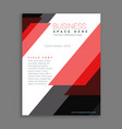 red stripes business annual report brochure vector image vector image