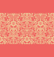 seamless damask pattern red and yellow image vector image vector image