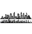 set of black horizontal night cityscapes vector image vector image