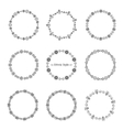 Set of decorative circular borders for design in vector image vector image