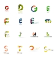 Set of universal company logo ideas business icon vector image vector image