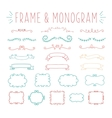 set simple and graceful monogram design vector image